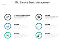 ITIL Service Desk Management Ppt Powerpoint Presentation Infographics Brochure Cpb