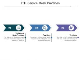 ITIL Service Desk Practices Ppt Powerpoint Presentation Layouts Background Images Cpb