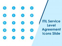 ITIL Service Level Agreement Icons Slide Ppt Powerpoint Presentation Portfolio Backgrounds