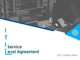 ITIL Service Level Agreement Powerpoint Presentation Slides
