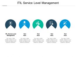 ITIL Service Level Management Ppt Powerpoint Presentation Layouts Portfolio Cpb