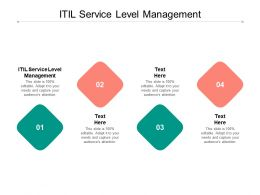 ITIL Service Level Management Ppt Powerpoint Presentation Summary Portrait Cpb