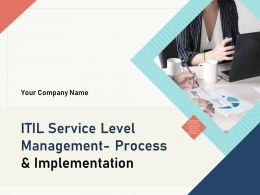ITIL Service Level Management Process And Implementation Powerpoint Presentation Slides