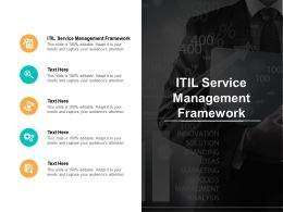 ITIL Service Management Framework Ppt Powerpoint Presentation Icon Shapes Cpb