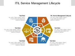 ITIL Service Management Lifecycle Ppt Powerpoint Presentation Inspiration Ideas Cpb