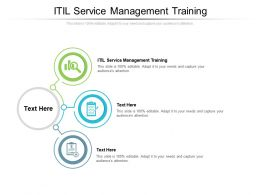 ITIL Service Management Training Ppt Powerpoint Presentation File Brochure Cpb
