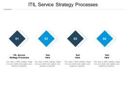 ITIL Service Strategy Processes Ppt Powerpoint Presentation Layouts Infographics Cpb