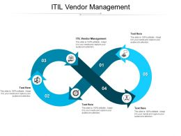 ITIL Vendor Management Ppt Powerpoint Presentation Ideas Background Cpb