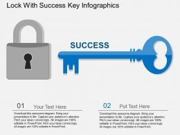 iu Lock With Success Key Infographics Flat Powerpoint Design