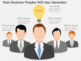 iu Team Business Peoples With Idea Generation Flat Powerpoint Design