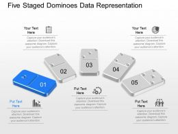 iv Five Staged Dominoes Data Representation Powerpoint Template