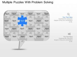iv Multiple Puzzles With Problem Solving Powerpoint Template