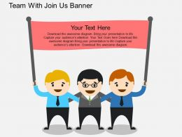 iv Team With Join Us Banner Flat Powerpoint Design