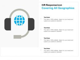 Ivr Response Icon Covering All Geographies