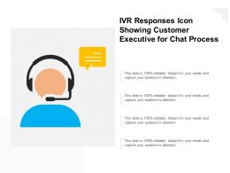 Ivr Responses Icon Showing Customer Executive For Chat Process