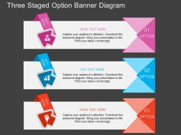 iw Three Staged Option Banner Diagram Flat Powerpoint Design