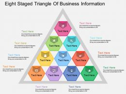 ix Ten Staged Triangle Of Business Information Flat Powerpoint Design