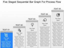 iy Five Staged Sequential Bar Graph For Process Flow Powerpoint Template