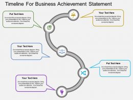 iy Timeline For Business Achievement Statement Flat Powerpoint Design
