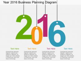 iy Year 2016 Business Planning Diagram Flat Powerpoint Design