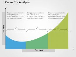 J Curve For Analysis Flat Powerpoint Design