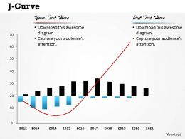 J Curve Powerpoint Template Slide