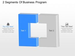 ja 2 Segments Of Business Program Powerpoint Template