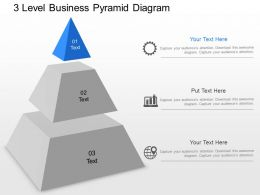 ja 3 Level Business Pyramid Diagram Powerpoint Template