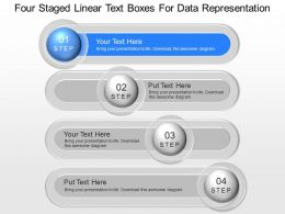Ja Four Staged Linear Text Boxes For Data Powerpoint Template