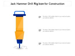 Jack Hammer Drill Rig Icon For Construction