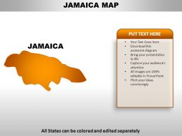 Jamaica Country PowerPoint Maps