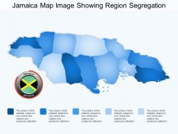 Jamaica Map Image Showing Region Segregation