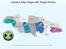 Jamaica Map Image With Target Arrows