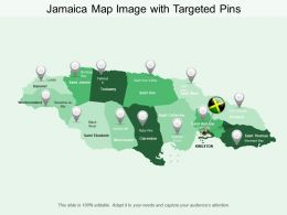 Jamaica Map Image With Targeted Pins