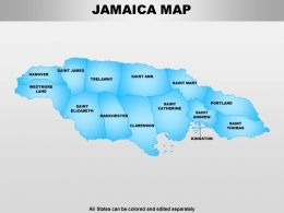 Jamaica Powerpoint Maps