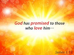 James 1 12 God Has Promised To Those Powerpoint Church Sermon