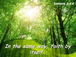 James 2 17 In The Same Way Powerpoint Church Sermon