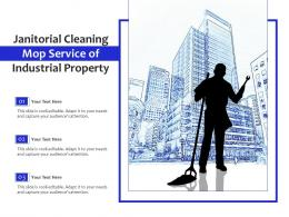 Janitorial Cleaning Mop Service Of Industrial Property