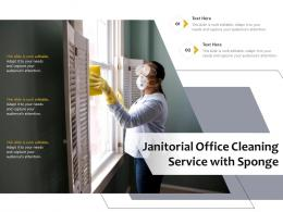 Janitorial Office Cleaning Service With Sponge