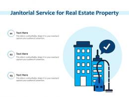 Janitorial Service For Real Estate Property