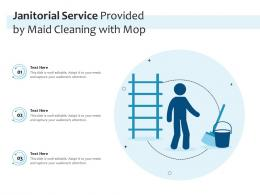 Janitorial Service Provided By Maid Cleaning With Mop