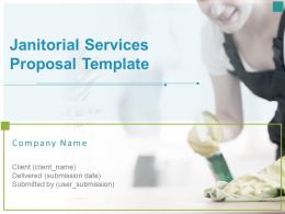 Janitorial Services Proposal Template Powerpoint Presentation Slides