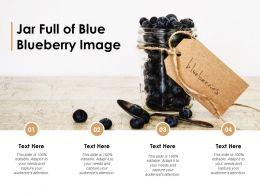 Jar Full Of Blue Blueberry Image