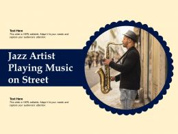 Jazz Artist Playing Music On Street