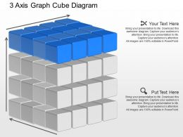 jb 3 Axis Graph Cube Diagram Powerpoint Template
