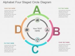 jb Alphabet Four Staged Circle Diagram Flat Powerpoint Design