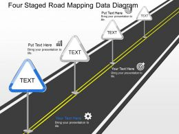 Jb Four Staged Road Mapping Data Diagram Powerpoint Template
