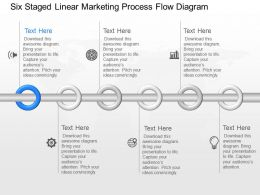 jb Six Staged Linear Marketing Process Flow Diagram Powerpoint Template