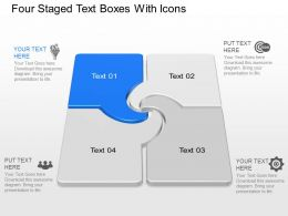 Jc Four Staged Text Boxes With Icons Powerpoint Template