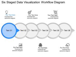 jc Six Staged Data Visualization Workflow Diagram Powerpoint Template
